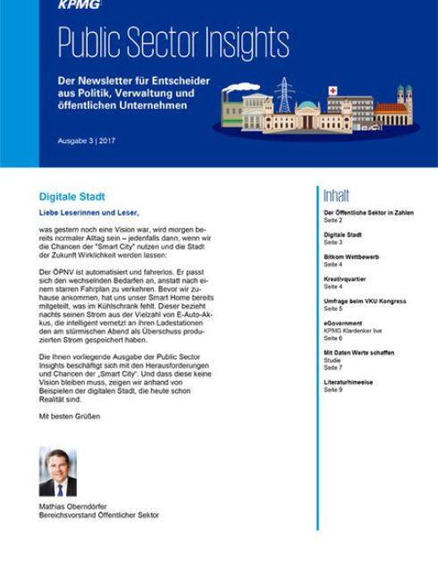 Public Sector Insights 3/2017: Neues aus der digitalen Stadt