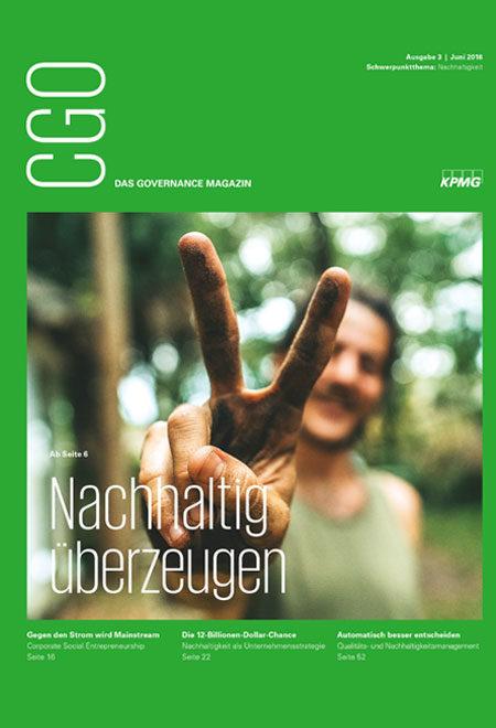 CGO - das Governance-Magazin. Thema: Nachhaltig überzeugen