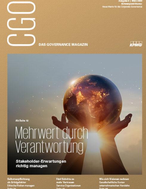 CGO - das Governance-Magazin. Thema: Mehrwert durch Verantwortung